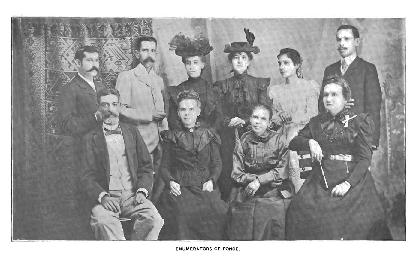 photograph of the census takers from Ponce, Puerto Rico